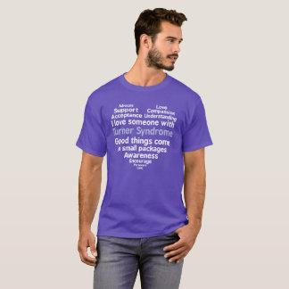 Camiseta Consciência da síndrome de Turner eu amo alguém