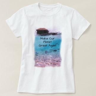 Camiseta Consciência das alterações climáticas da protecção