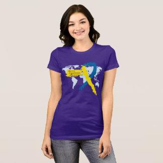 Camiseta Consciência de Síndrome de Down do mundo