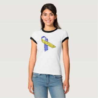 Camiseta Consciência de Síndrome de Down do t-shirt da