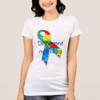 Camiseta Consciência do autismo diferente não menos t-shirt