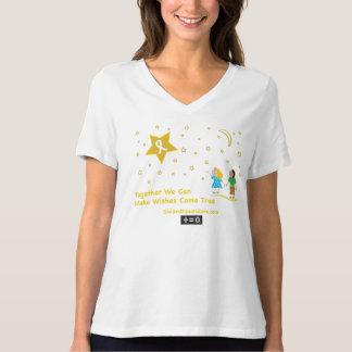 Camiseta Consciência do cancer da Desejo-Infância