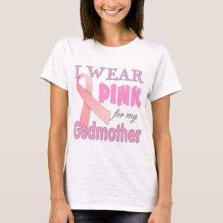 Camiseta Consciência do cancro da mama para a madrinha
