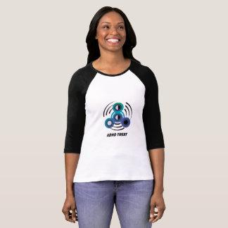 Camiseta Consciência do girador ADHD da mão do brinquedo da