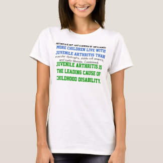 Camiseta Consciência juvenil da artrite
