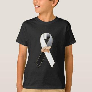 Camiseta Consciência preta/branca do Anit-Racismo da fita