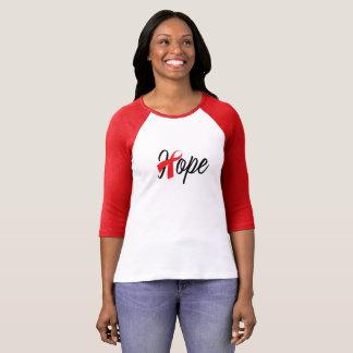 Camiseta Consciência vermelha da fita da saúde do coração