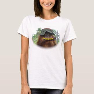 Camiseta Conservação do orangotango do óleo de palma