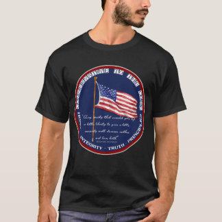 Camiseta Conservador ao núcleo - liberdade Ben Franklin