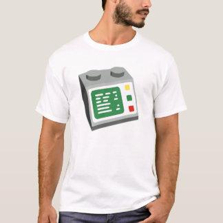 Camiseta Consola de computador do tijolo do brinquedo