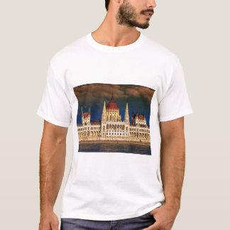 Camiseta Construção húngara do parlamento em Budapest,