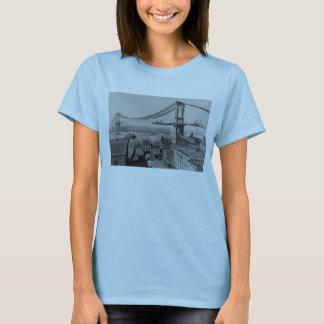 Camiseta Construção Manhattan ponte do 23 de março de 1909