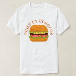Camiseta Construído por hamburgueres