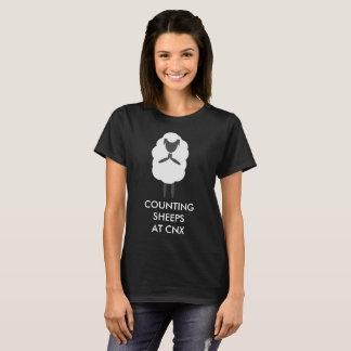 Camiseta Contando os carneiros @ CNX para mulheres