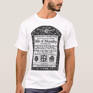 Camiseta Contas da mortalidade 1665