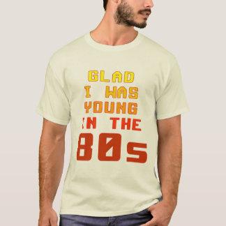 Camiseta Contente eu era novo no t-shirt do anos 80