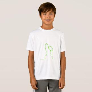 Camiseta Contorno de uma luz da lebre - verde