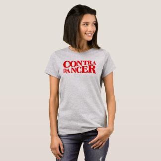 Camiseta Contra a rotulação Dançarino-Vermelha