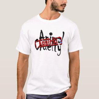 Camiseta Contra o t-shirt animal da crueldade
