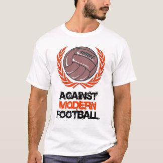 Camiseta Contra o t-shirt moderno do futebol