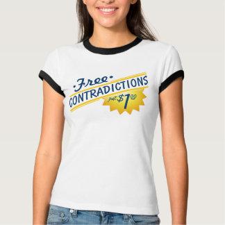 Camiseta Contradições livres, apenas $1,00! T-shirt