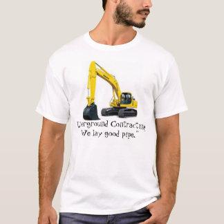 Camiseta contratar subterrâneo