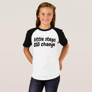 Camiseta Contrate o t-shirt GRANDE da mudança de 2 etapas