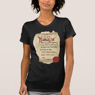 Camiseta Contrato do assaltante