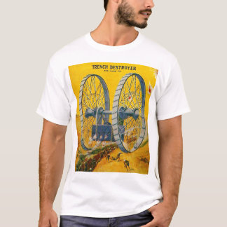 Camiseta Contratorpedeiro retro da trincheira de Sci Fi da