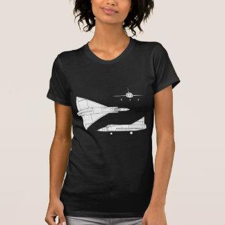 Camiseta Convair_YF-102_Delta_Dagger_3-view