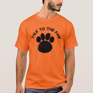 Camiseta Conversa à laranja 6 do t-shirt dos homens da pata