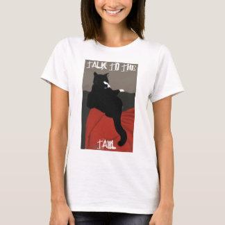 Camiseta Conversa ao T das mulheres da cauda