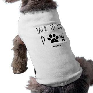 Camiseta Conversa ao texto engraçado bonito da pata   com