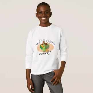 Camiseta Conversa como um papagaio do pirata