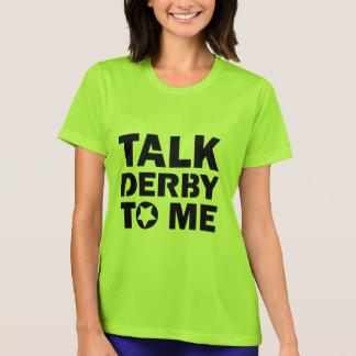 Camiseta Conversa Derby a mim, design da menina de Derby do