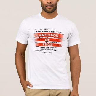 Camiseta Conversa real, + de combate do jogo