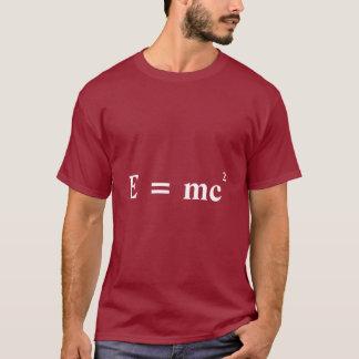 Camiseta Conversão de E = de energia maciça de mc2 Einstein