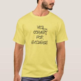 Camiseta Converterá para a evidência