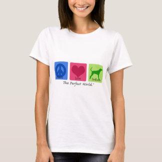 Camiseta Coonhound de Redbone do amor da paz
