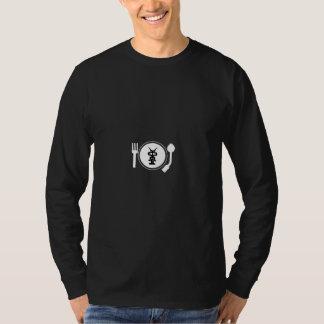Camiseta Cópia branca do LOGOTIPO da PLACA
