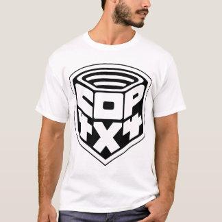 Camiseta cópia do preto basic1 do crachá da bobina