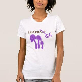 Camiseta Cópia do roxo do galão do divertimento