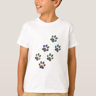 Camiseta Cópias animais da pata do divertimento