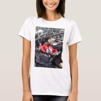 Camiseta Copos e folhas vermelhos