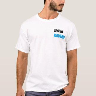 Camiseta Cor branca Miata de T, kawaii da movimentação