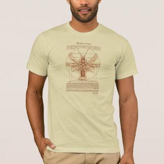 Camiseta Cor da oxidação dos lagostins de Vitruvian