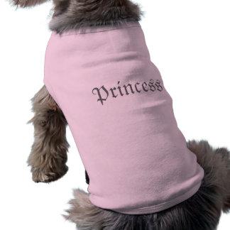Camiseta cor-de-rosa da princesa Customizável Cão
