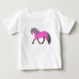 Camiseta cor-de-rosa do pônei