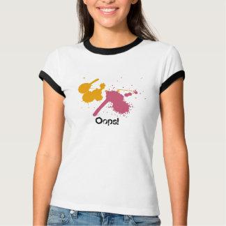 Camiseta Cor-de-rosa-Splat, Alaranjado-Splat, Oops!