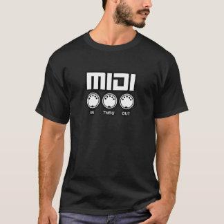 Camiseta Cor do branco de Midi